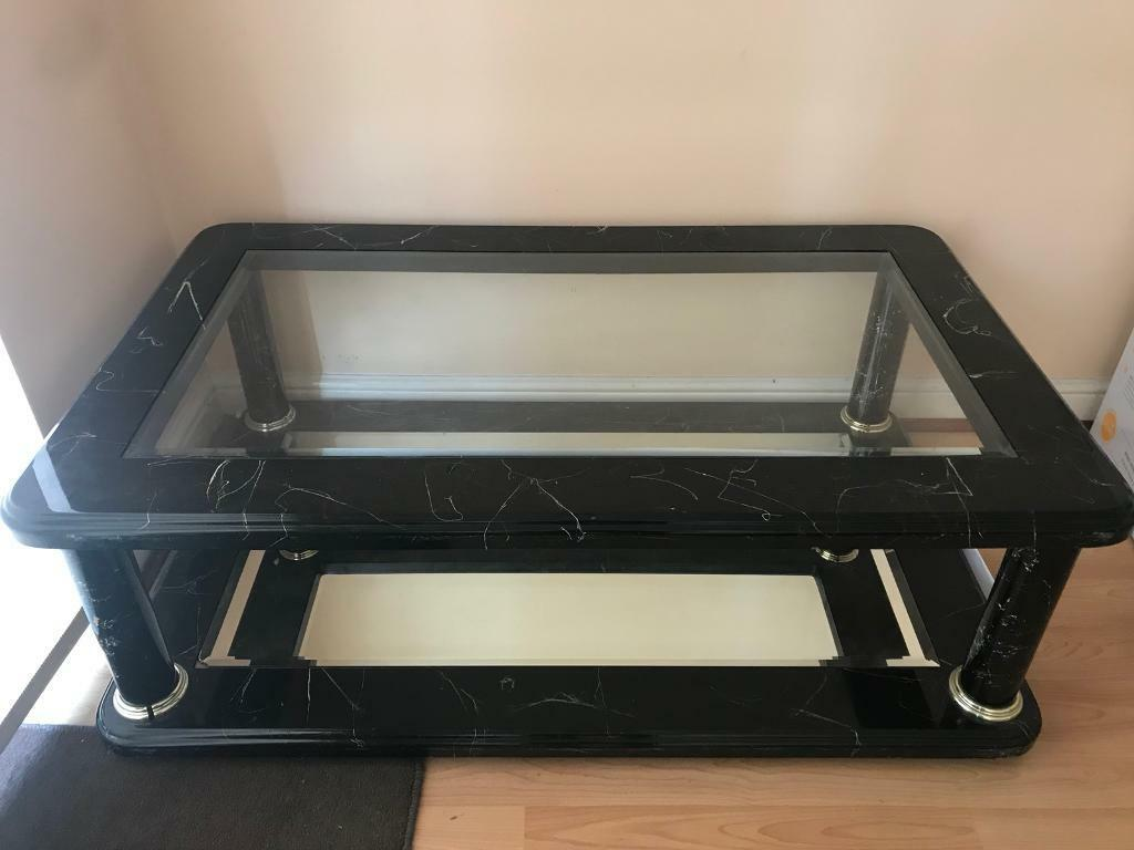 Italian Marble Glass And Mirror Style Coffee Table In Greenford