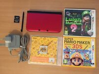 Nintendo 3DS XL Red + 3 GAMES
