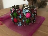 STUNNING Flower Bangle Hand Made In Italy