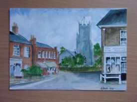 PARISH CHURCHES, REEPHAM, NORFOLK. BY GEORGE T. JOHNSON. VERY GOOD CONDITION UNUSED POSTCARD.