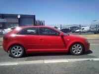 Audi A3 2.0fsi good running drives well No MOT very good body work cream