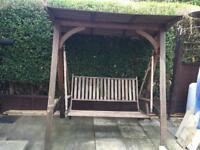 Hardwood swing chair