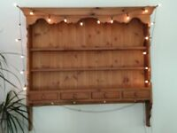 Hand Crafted Waxed Pine Plate Rack (Wall Hanging)