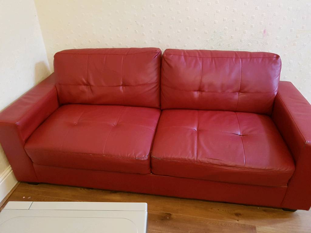 Sold Free Free Red Settee Available Now In Formby Merseyside