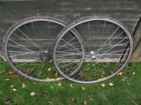 Vintage Mavic Paris - Roubaix Race / CX Bike Tubular Wheels 700c Racing Cycle Tubs