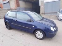 2003 VOLKSWAGEN POLO 1.2 E 3 DOOR HATCHBACK BLUE 10 MONTHS M.O.T