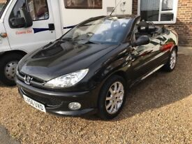 Peugeot 206cc (convertible) with remote locking,cd radio,alloy wheels,long M.O.T x x x x x x x x x x