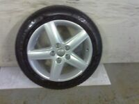 ALLOYS X 4 OF 17 INCH GENUINE AUDI A4 5 SPOKE FULLY POWDERCOATED INA STUNNING SILVER SPARKLE NICEJOB