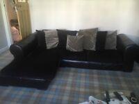 Large corner sofa & armchair