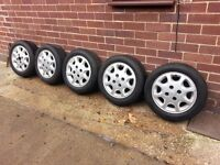 set of five matching ford wheels n matching tyres