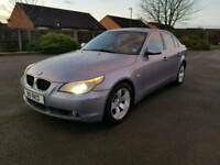 2004 BMW 530 D SE. GREY . MANUAL. DIESEL.PRIVATE PLATE STAYS ON.