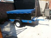 Trailer ideal for many uses 6'x4' new suspension units and tyres inc spare