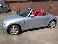 2005 Daihatsu Copen 2 dr Silver Convertible Red Leather Seats 46k miles reduced for quick sale ono