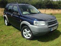 Land Rover Freelander blue 5dr 1.8 petrol LOW MILAGE