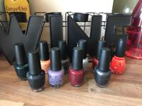 10 x OPI & China Glaze Nail Varnishes