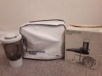 Retro Kenwood Chef food processor and accessories