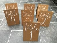 Wedding Table Numbers x 12 - Rustic Country - Ginger Ray