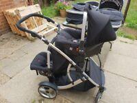 Kidz Kargo Duellette 21 BS Twin Double Pushchair Stroller Buggy