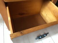 Solid oak dressing table, very good condition with three drawers to right hand side