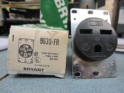 Bryant 9630-fr 30 Amp 250 Volt Flush Receptacle New