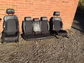 Audi A3 8P S line half leather seats 5 door drivers passenger