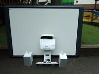 Interactive Whiteboard System - Includes whiteboard, projector and speakers -can be sold separately