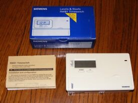 Siemans RWB7 Timeswitch. Heating programmer for control combi boiler.