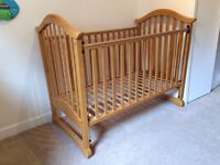 Mamas and Papas Cot with Changing Table