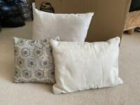3 assorted cushions