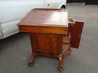 Victrorian walnut davenport desk great item , ideal for laptops, can deliver