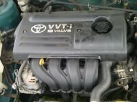 2001-2006 TOYOTA COROLLO/AVENSIS 1.6 VVTI ENGINE SUPPLIED AND FITTED 48,000 MILEAGE ONLY