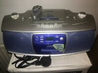 JVC Portable CD Radio Cassette Stereo System RC-ST1SL With Remote Control