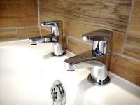 Bath including taps / Bathroom sink, vanity Unit & tap / toilet / mirror & light, Acrylic Bath.