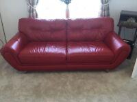 Red DFS Sofa Set