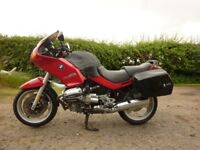 BWM Motorcycle R1100RS, 1994, ABS, full MOT 29300mls Marakesh Red, BMW panniers Baglux tank cover
