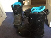 Women's k2 snowboard boots rarely used