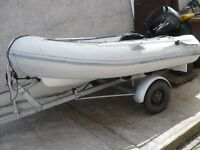 Rib 2.7 mtr Rollercoaster Trailer 9.9 Hp 4stroke outboard and complete package.