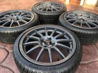 "17"" Team Dynamics Pro Race 1.2 BMW Mini Cooper Refurbished Alloy wheel & new tyres"