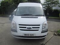 2010 ford transit 17 seater bus choice of 3 from 25000 miles with all certs seatbelt etc