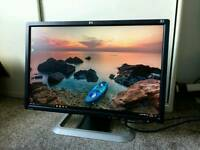 "HP LP2475w 24"" HDMI Widescreen LCD Monitor DVI with box + manual"