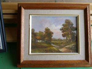 """Exquisite Oil Painting Original 8x10"""" art on canvas solid wood frame Oakville 905 510-8720 Like Group of Seven 7 nature"""