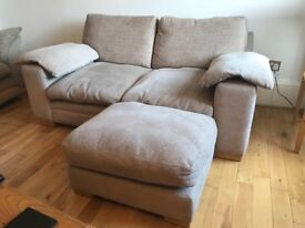 Comfy 2 seater sofa and foot stool