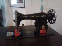 Singer Sewing Machine Cabinet Excellent Condition