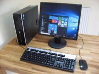 HP Windows 10 PC with Monitor. Wi-Fi Internet. Fast 3.2GHz Dual Core, 500GB HDD, 4GB RAM. Like New!