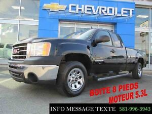 2012 GMC SIERRA 1500 4WD EXTENDED CAB LWB BOITE 8 PIEDS, 4x4