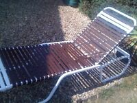 Sun lounger lightweight and cane chair both bargains