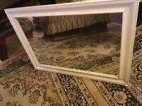 Large mirror with white frame size 106x76cm very clear mirror £15