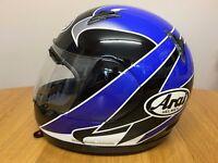 ARAI Astro J Large Helmet Kenny Roberts replica blue paint finish - as new