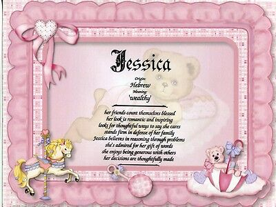 Baby Girl  Name Meaning Print Personalized  Gift For Birth  Shower  Baptism