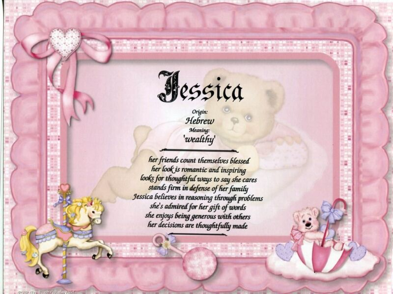 """Baby Girl"" Name Meaning Print Personalized (Gift for Birth, Shower, Baptism)"